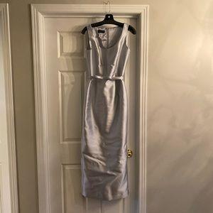 Silver Frascara Evening Dress